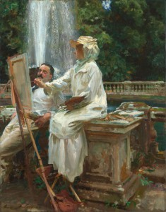 John Singer Sargent, The Fountain, Villa Torionia, Frascati, Italy, 1907. Courtesy of the Art Institute of Chicago.