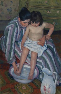 Mary Cassat, The Child's Bath, 1893. Courtesy of the Art Institute of Chicago.