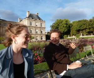 Melanie Blake + Sean Forester in Luxembourg Gardens