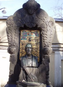 The Russians honour their composers and musicians: tomb of Alexander Borodin.
