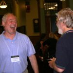 Martin Aller-Stead and Gary Schoepfel in deep discussion