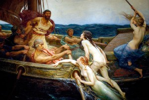 Ulysses and the Sirens by H.J. Draper (courtesy jigboxx.com/Wikimedia Commons)