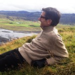 Mark on hill contemplating Njal's Saga.
