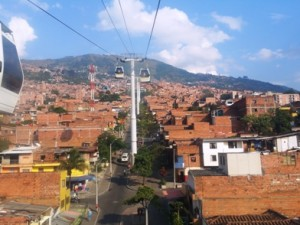 Medellin - cable cars to poor neighbourhoods