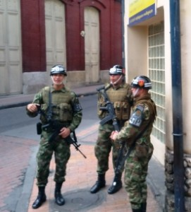 Security on streets of Bogota