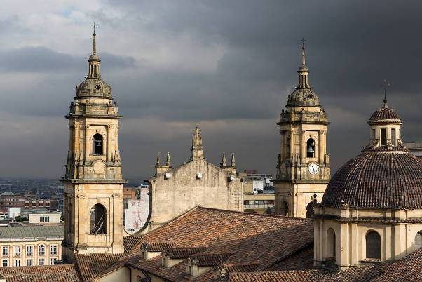 Cathedral rooftop in Bogota