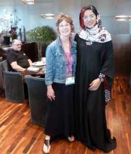 Me with Emirati woman I met at lunch
