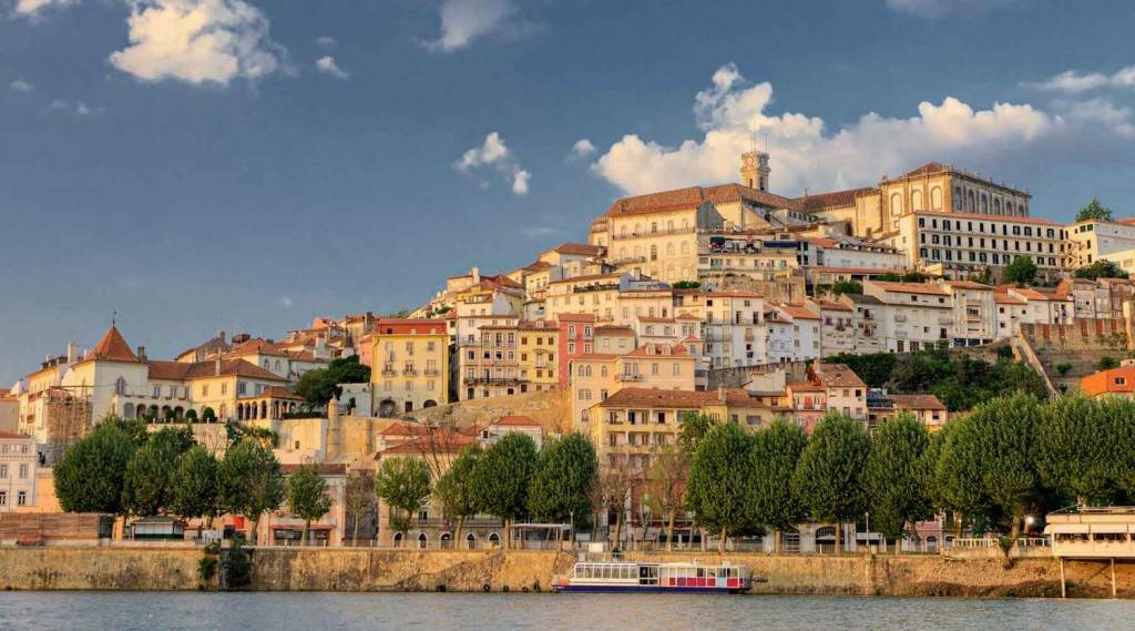 Coimbra from the banks of the Mondego