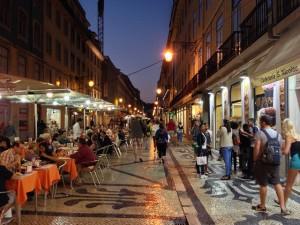 Pedestrian Street in Portugal