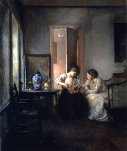 New England Interior by Edward Tarbell