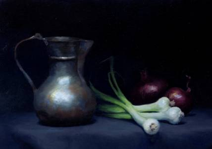 Still Life with Onions by Sean Forester