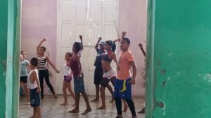 Kids at a community centre in Cienfuegos. They are ready for Broadway.