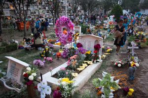 Cemetery on Day of the Dead, Mexico