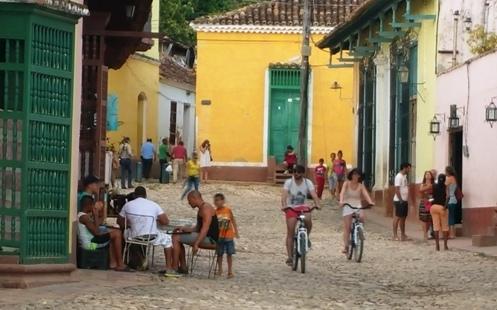 Dominoes in Trinidad.