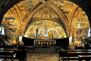 Frescoes in the Assisi basilica, Italy