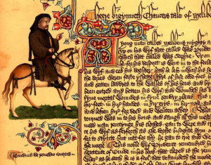 Portrait of Chaucer, Canterbury Tales