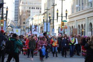 Women Marching in Calgary
