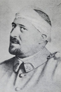 Guillaume Apollinaire in 1916, after receiving a shrapnel wound