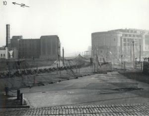 Berlin Wall border fortifications at Potsdamer Platz, 1961