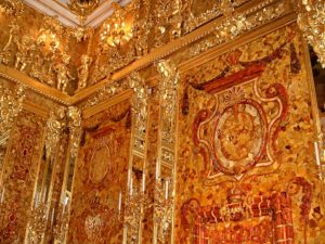 A detail of the Amber Room