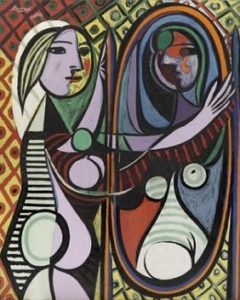 Girl Before a Mirror by Pablo Picasso