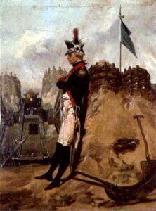 Alexander Hamilton in uniform