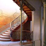 Art nouveau staircase designed by Victor Horta