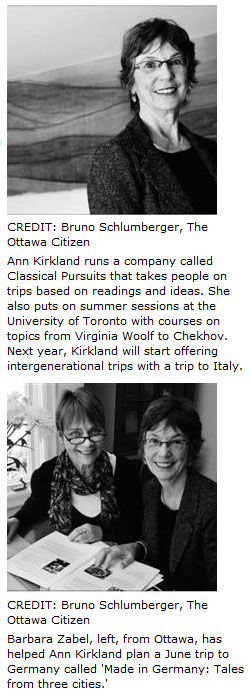 Ann Kirklan and Barbara Zabel - Classical Pursuits Literary Trips